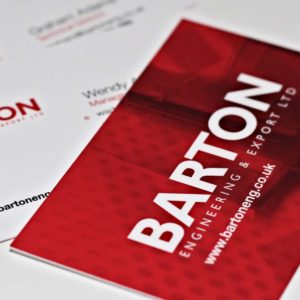 Barton Engineering business cards by 9G Websites