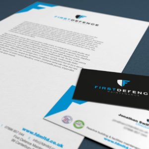 First defence maintenance letterheads by 9G Websites
