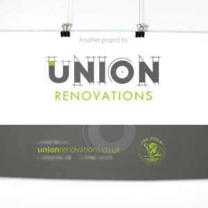 Union Renovations sign by 9G Websites
