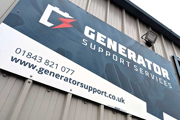 Generator Support Services signage and logo design by 9G Websites
