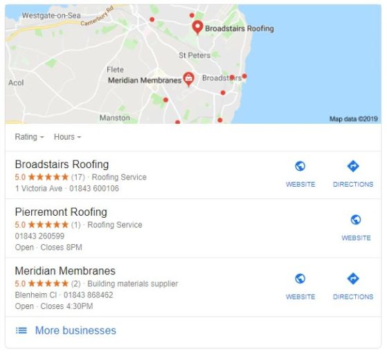 Broadstairs Roofing local 3 pack