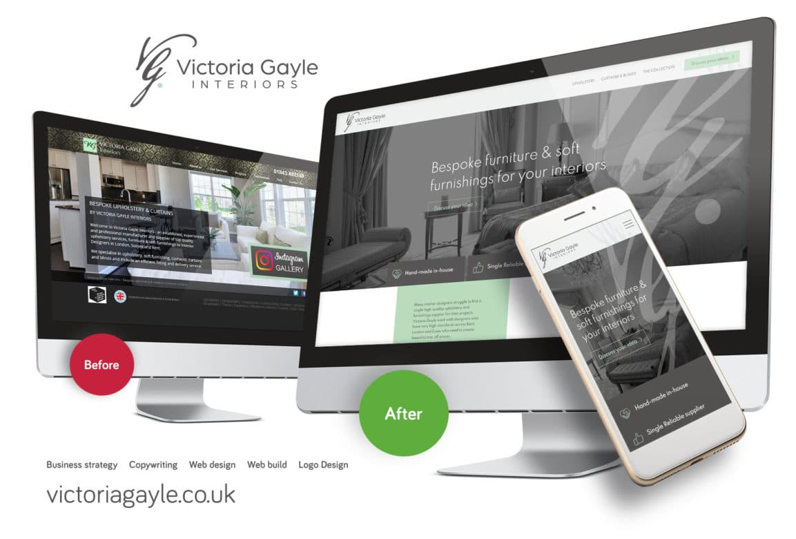 Web design for Victoria Gayle in Ramsgate