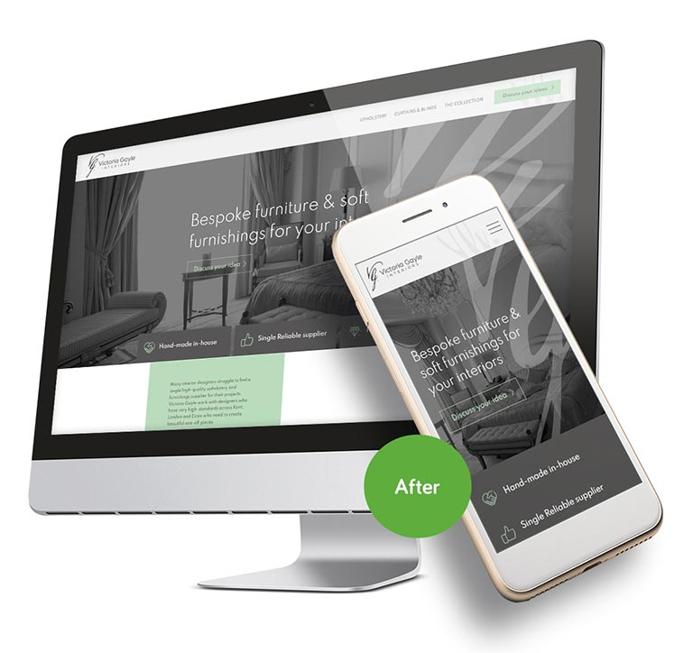 after web design in ramsgate victoria gayle
