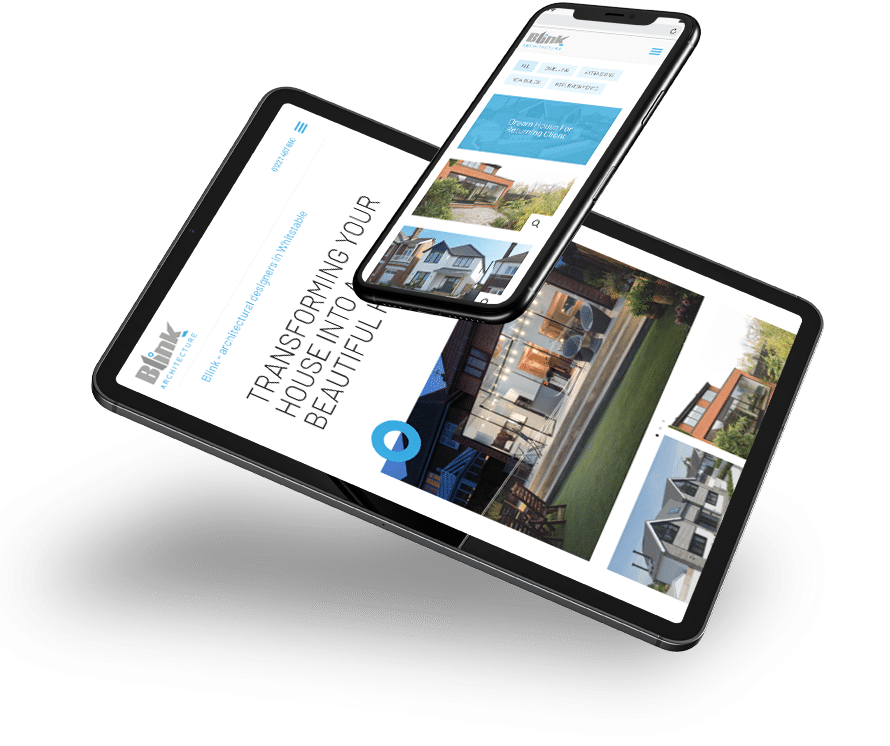 Blink Architecture responsive web design in Whitstable by 9G Websites